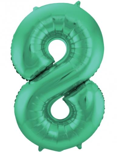 Ballon alluminium vert métallique chiffre 86 cm-8