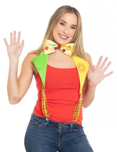 Bretelles clown avec noeud adulte