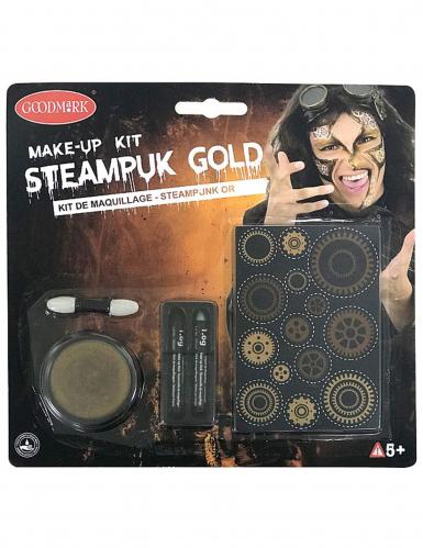 Kit maquillage steampunk doré