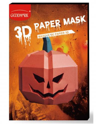 Masque de papier 3D citrouille adulte