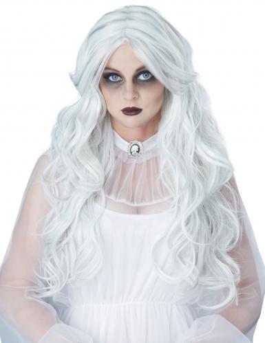 Perruque longue dame blanche femme