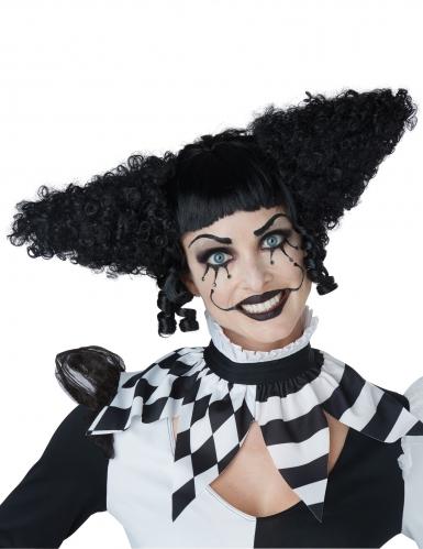 Perruque clown psycho noir femme