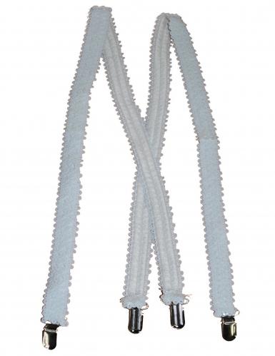 Bretelles sequins blanches adulte