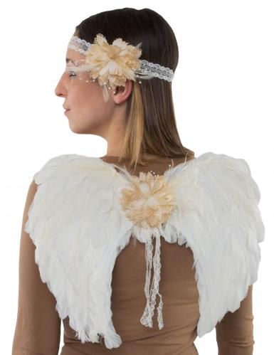 Kit ailes d'ange et bandeau adulte