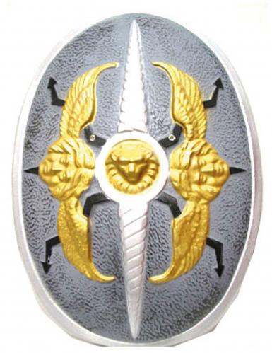 Bouclier ailes d'ange plastique 60 x 40 cm