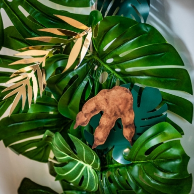6 Empreintes de dinosaure marron et doré 15,5 x 13,5 cm-2