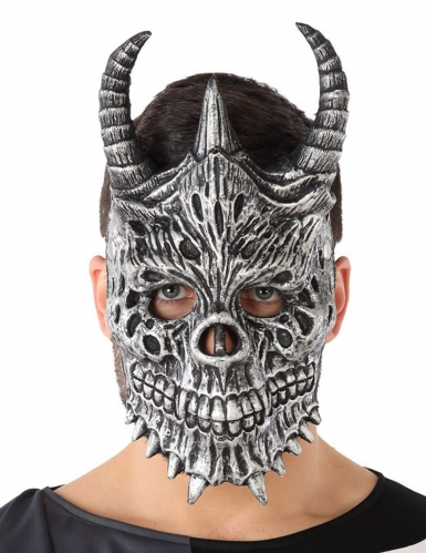 Masque dragon gris adulte
