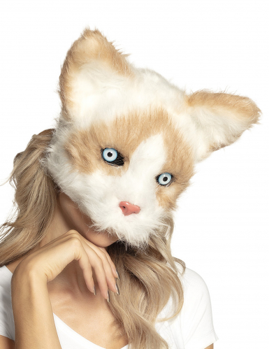 Masque chat peluche adulte