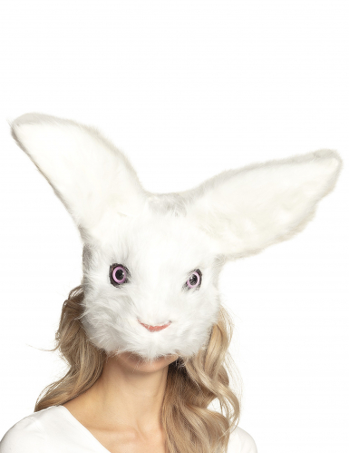 Masque lapin peluche adulte