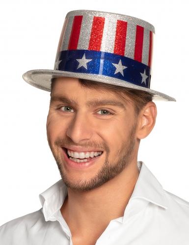 Chapeau haut de forme USA paillettes adulte