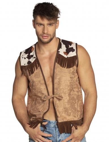 Veste western marron clair homme