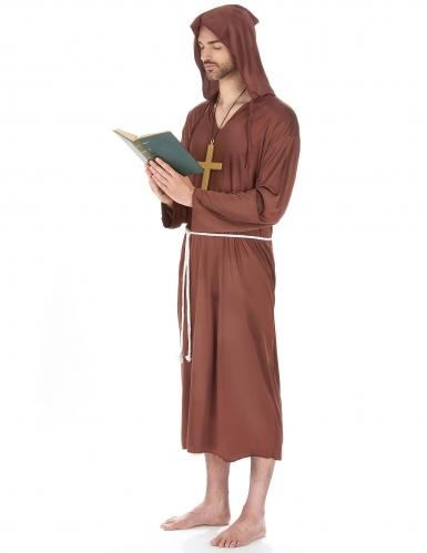 Déguisement moine marron clair grande taille homme-1
