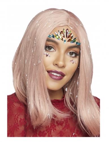 Bijoux pour visage adhésifs multicolores