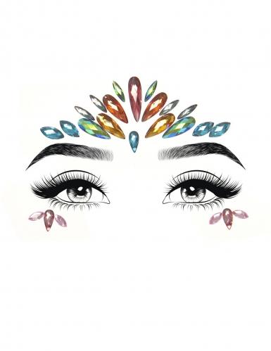 Bijoux pour visage adhésifs multicolores-1