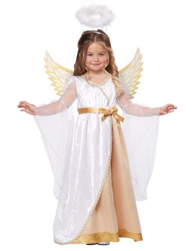 Déguisement petit ange blanc et or fille