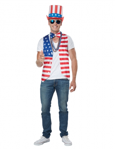 Déguisement homme patriote Américain-1