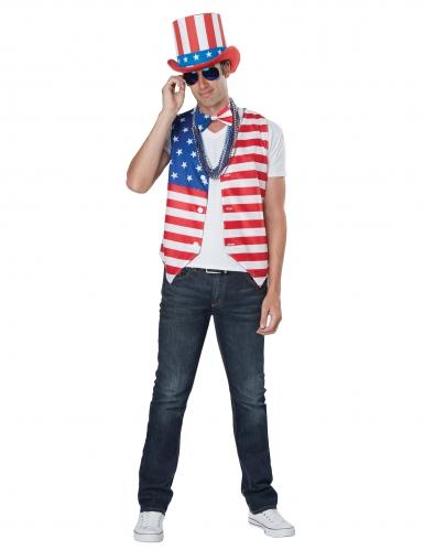Déguisement homme patriote Américain-3