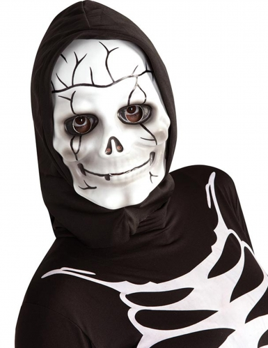 Masque de squelette avec cagoule enfant