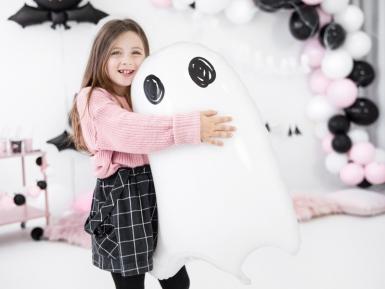 Ballon en aluminium fantôme blanc 48 x 68 cm-1