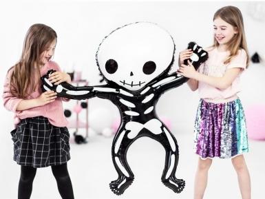 Ballon en aluminium squelette blanc et noir 84 x 10 cm-1