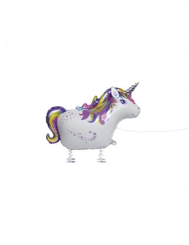 Ballon aluminium licorne marchant 86 cm
