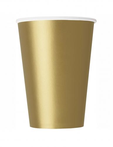 14 Gobelets en carton dorés 266 ml