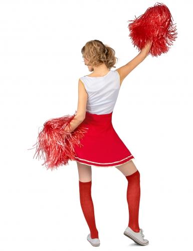 Déguisement de pompom girl USA rouge femme-2