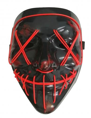 Masque led lumineux rouge adulte-1