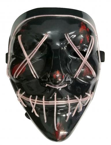 Masque led lumineux blanc adulte-1