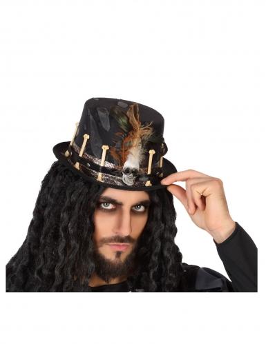 Chapeau vaudou noir adulte