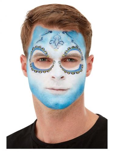 Kit de Make Up FX Dia de los Muertos bleu adulte-3