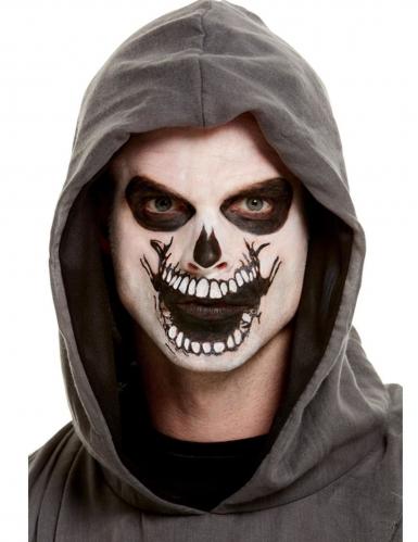 Kit de maquillage avec tatouage bouche squelette adulte