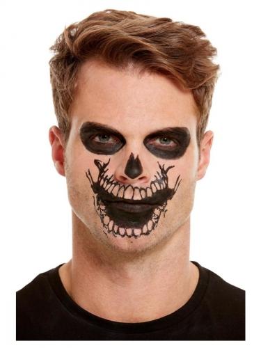 Kit de maquillage avec tatouage bouche squelette adulte-2