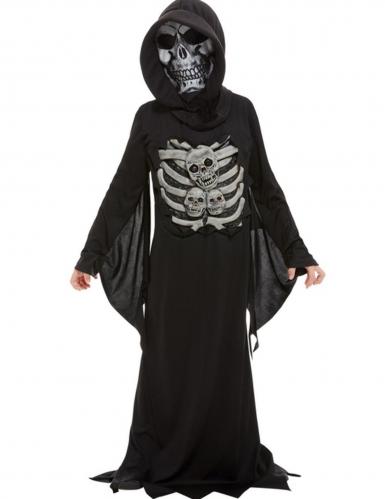 Déguisement squelette faucheur enfant