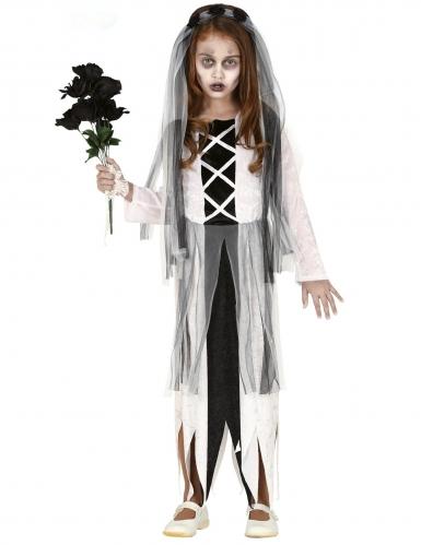 Déguisement jeune mariée zombie fille
