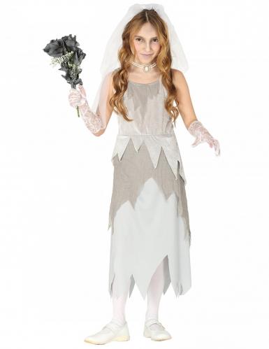 Déguisement jeune mariée fantôme grise fille