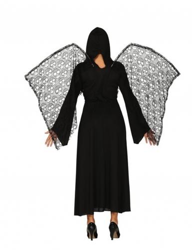Déguisement ange de la mort ailes dentelles femme-1