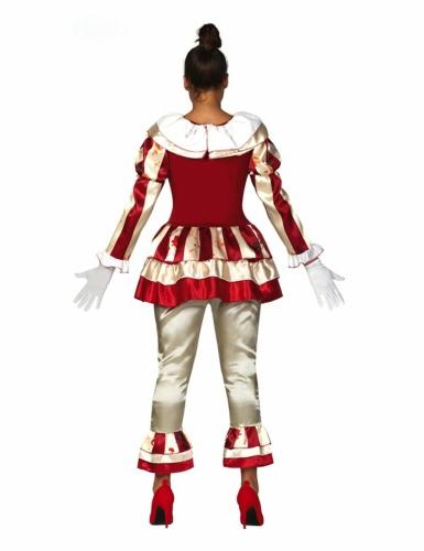 Déguisement clown terrifiante rouge et blanc femme-1
