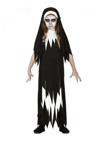 Déguisement zombie nonne fille