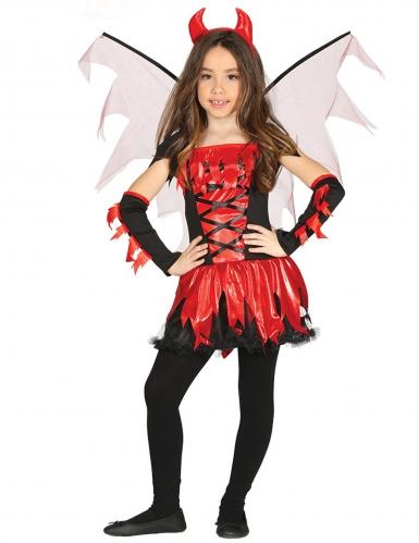 Déguisement diablesse avec ailes fille