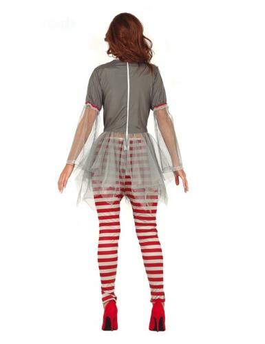Déguisement clown psychopathe legging femme-1