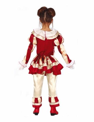 Déguisement clown terrifiante rouge et blanc fille-1