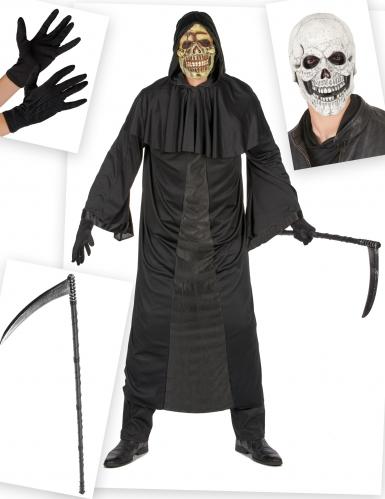 Pack déguisement et accessoire de faucheur homme