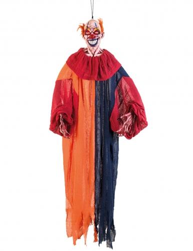 Décoration à suspendre clown multicolore effrayant 165 cm