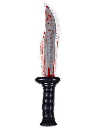 Couteau assassin ensanglanté 33 cm-1