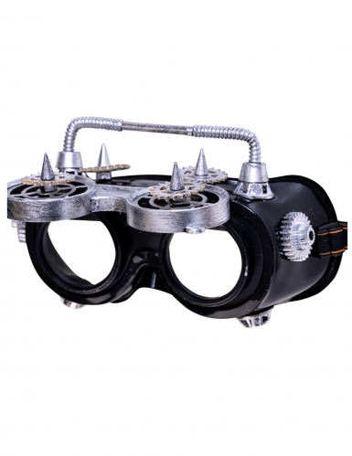 Lunettes mobiles steampunk grise adulte-1