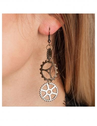 Boucles d'oreilles steampunk engrenages adulte