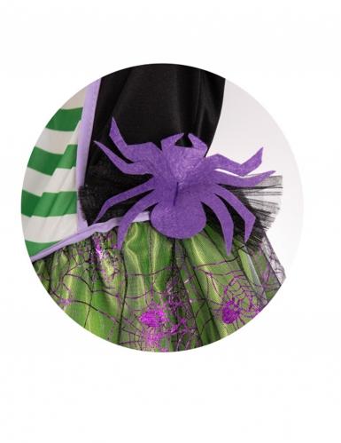 Déguisement sorcière araignée avec chapeau verte fille-2