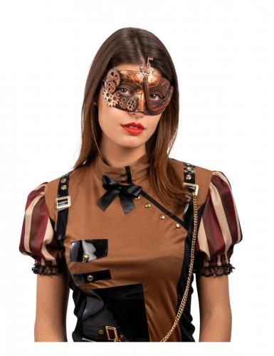Masque steampunk bronze adulte
