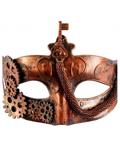 Masque steampunk bronze adulte-1